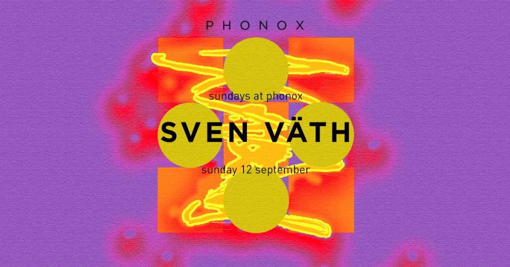 Sven Väth - London - Flyer front