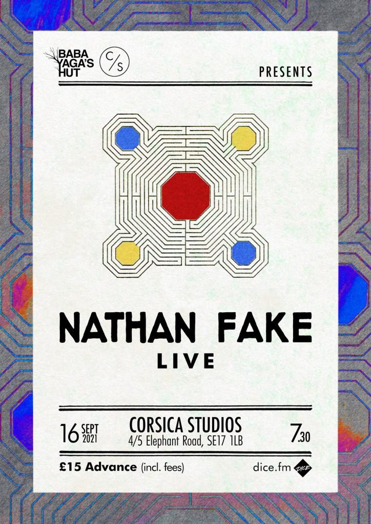 Nathan Fake Live - Flyer front