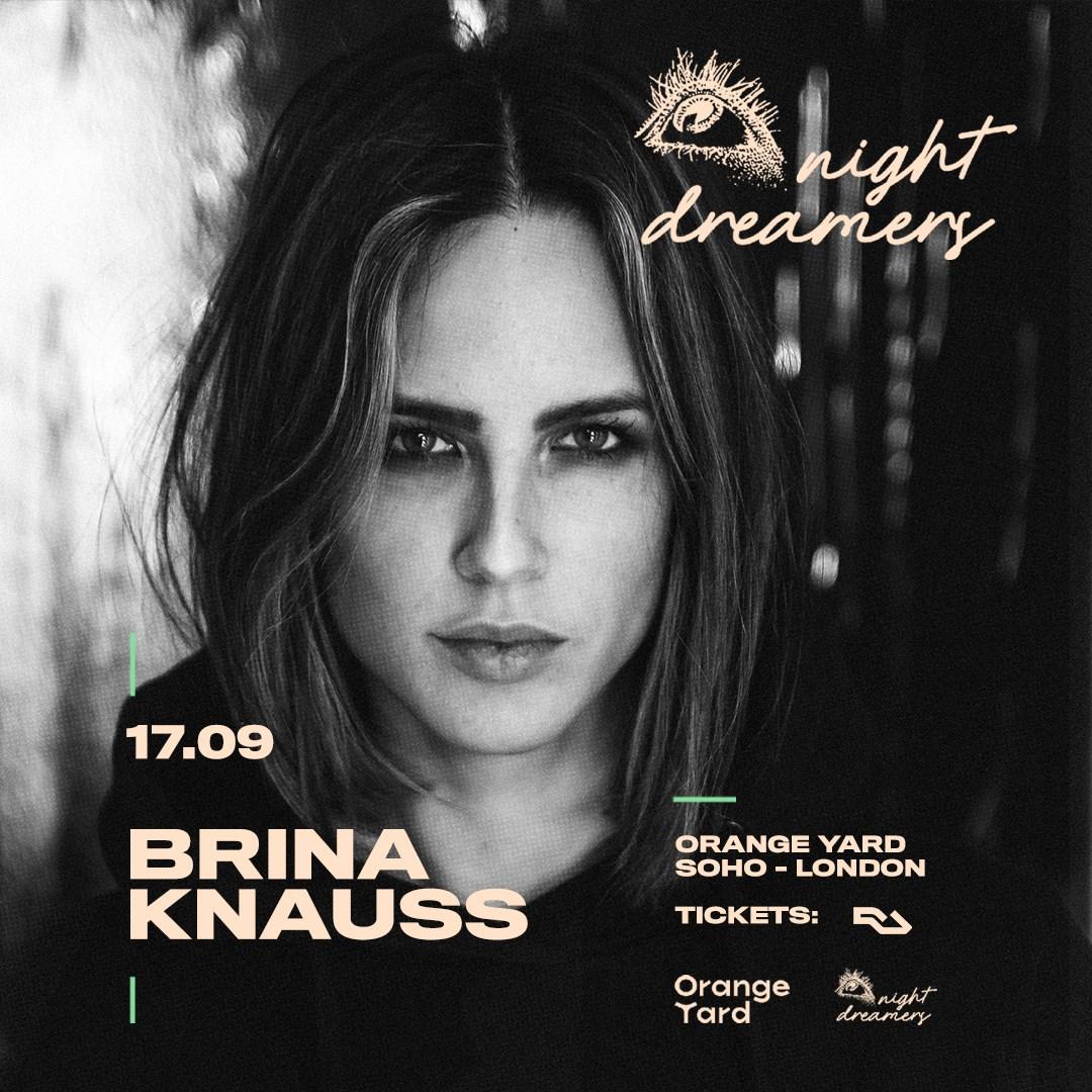 Night Dreamers present: Brina Knauss - Flyer back