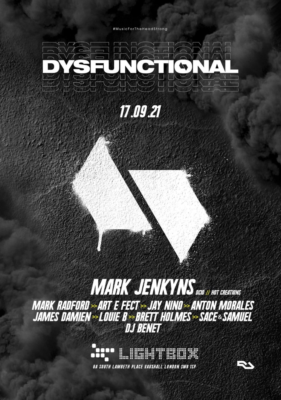 Dysfunctional - Flyer front