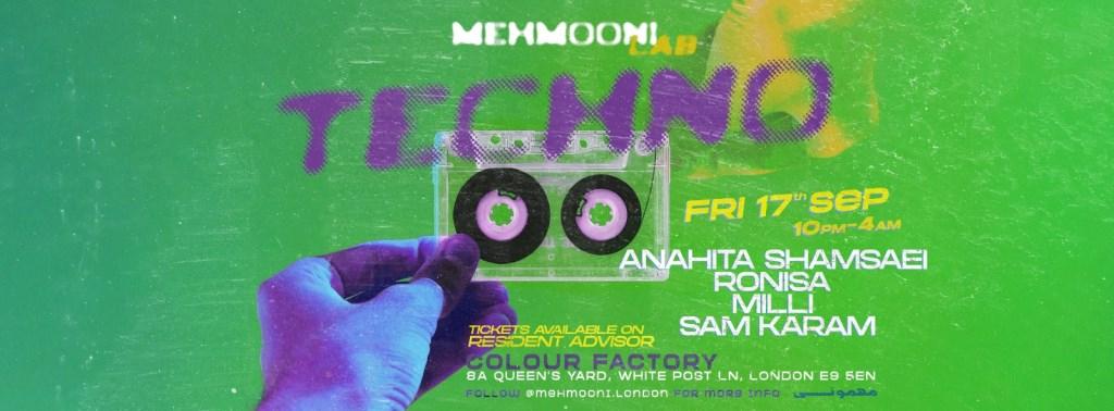 Mehmooni LAB: Techno - Flyer back