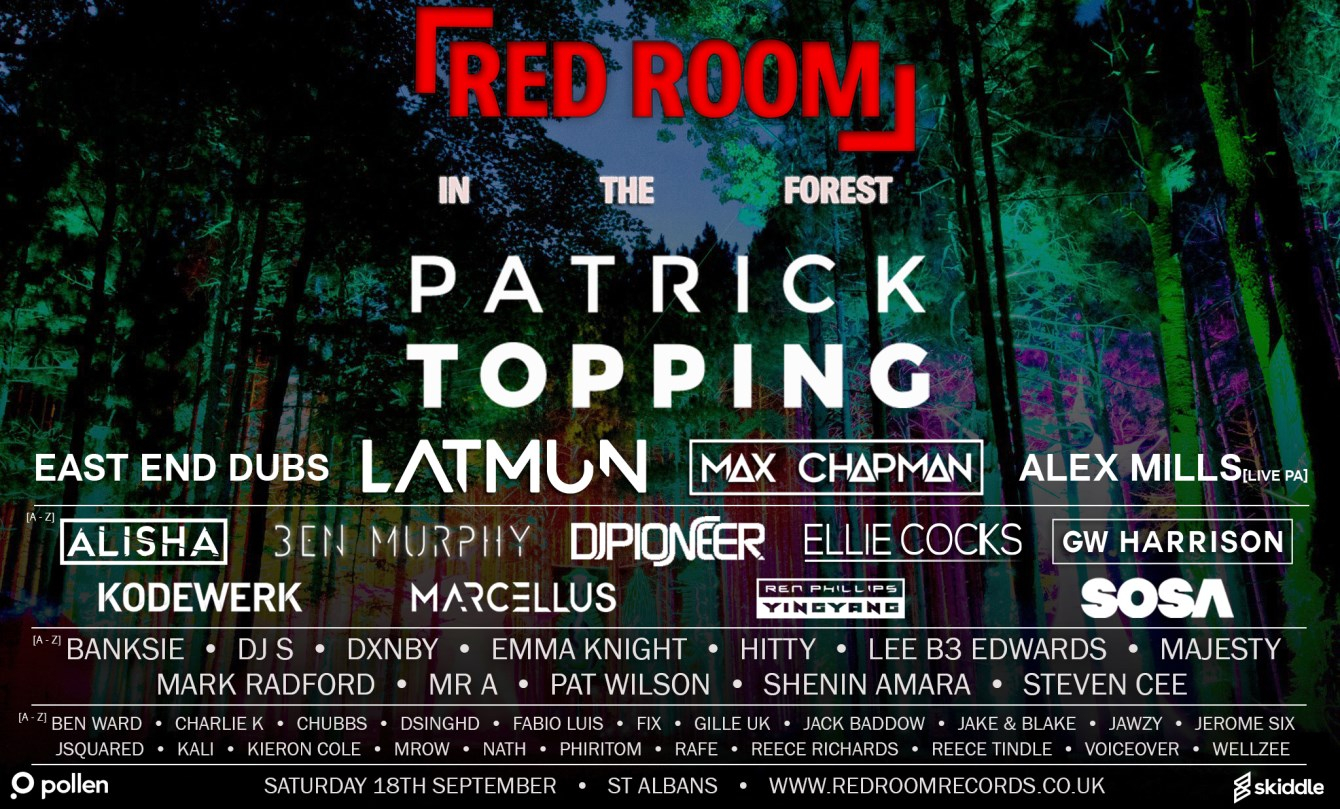 Red Room In The Forest Festival - Flyer front