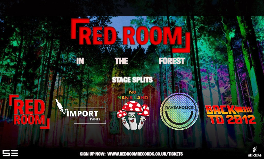 Red Room In The Forest Festival - Flyer back