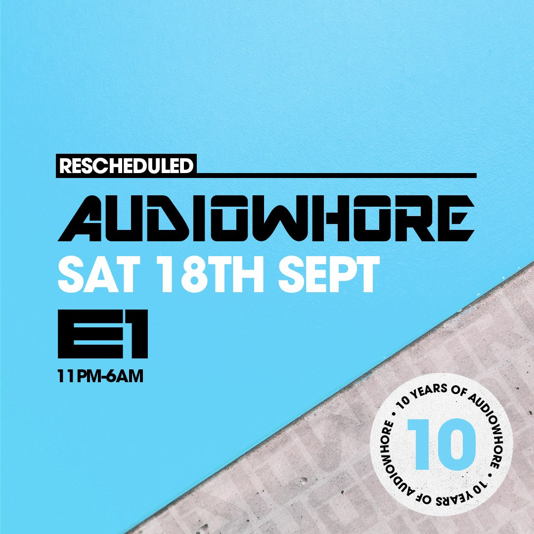 Audiowhore 10th Birthday Part 2 - Flyer front