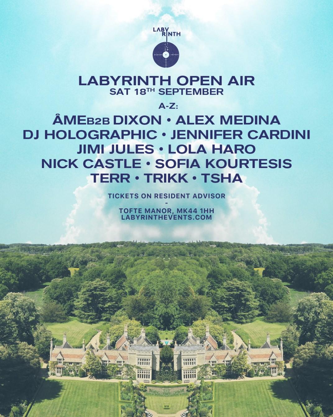 Labyrinth Open Air: Âme b2b Dixon & More - Flyer front
