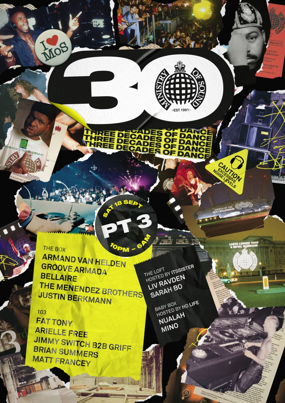 Ministry Of Sound 30th Birthday Part Three - Flyer front
