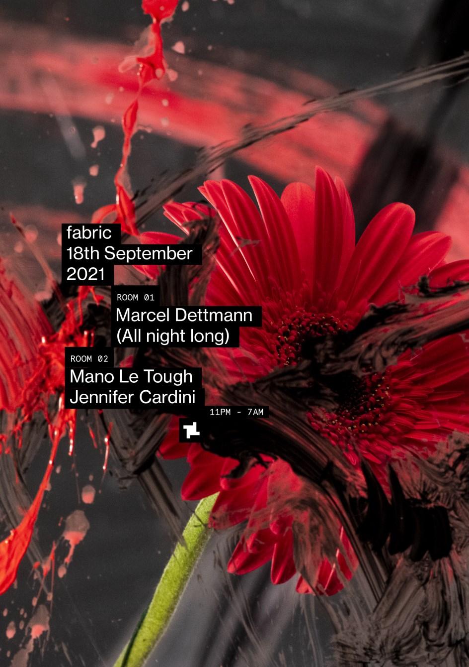 fabric: Marcel Dettmann (All Night Long), Mano Le Tough, Jennifer Cardini - Flyer front