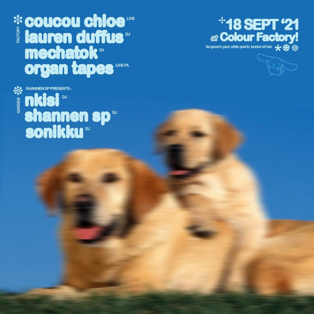 Coucou Chloe & Mechatok - Flyer front