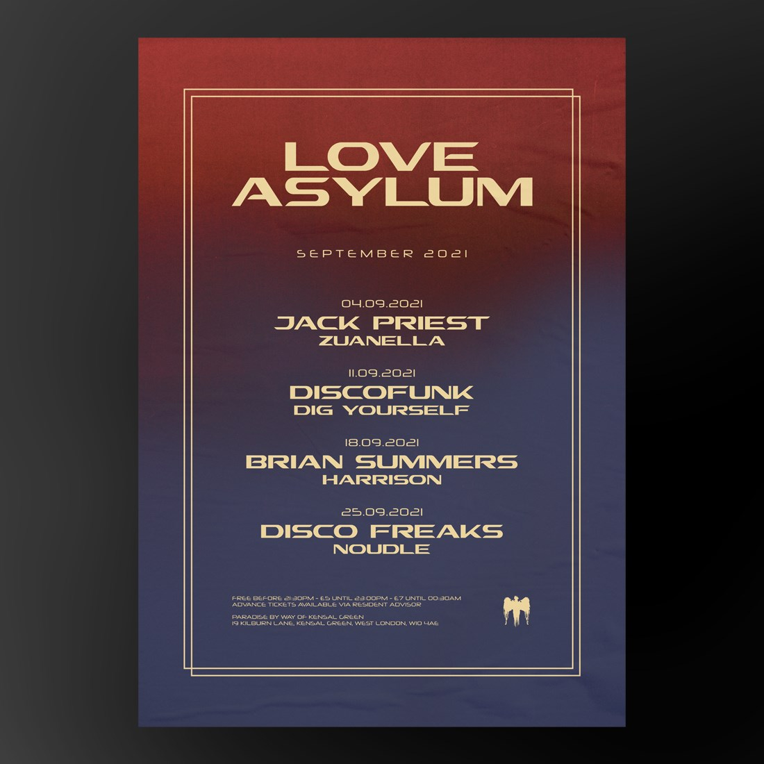 Love Asylum with Brian Summers - Flyer back