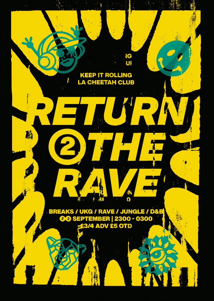 Keep It Rolling - Return To The Rave - Flyer front