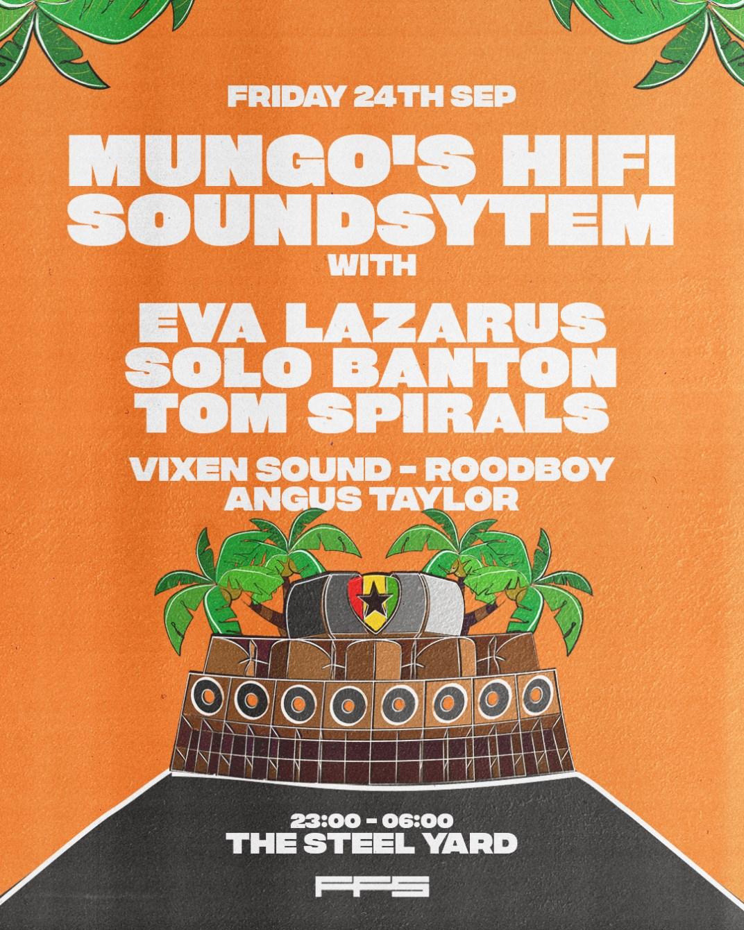 Mungo's Hifi Soundsystem - Flyer back