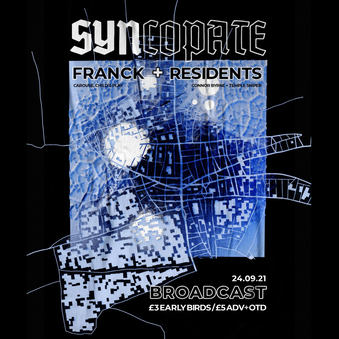 Syncopate's 4th Bday with - Franck - Flyer front