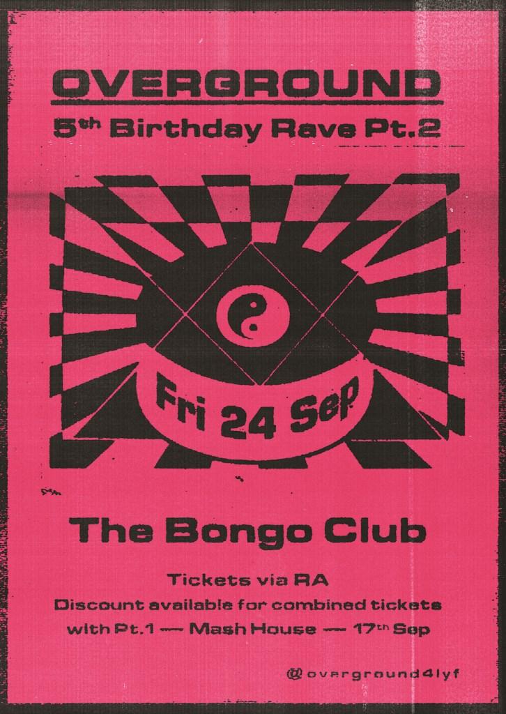 5 Years of ☻ ᴏᴠᴇʀɢʀᴏᴜɴᴅ ☻ Part 2: Bongo Club - Flyer front