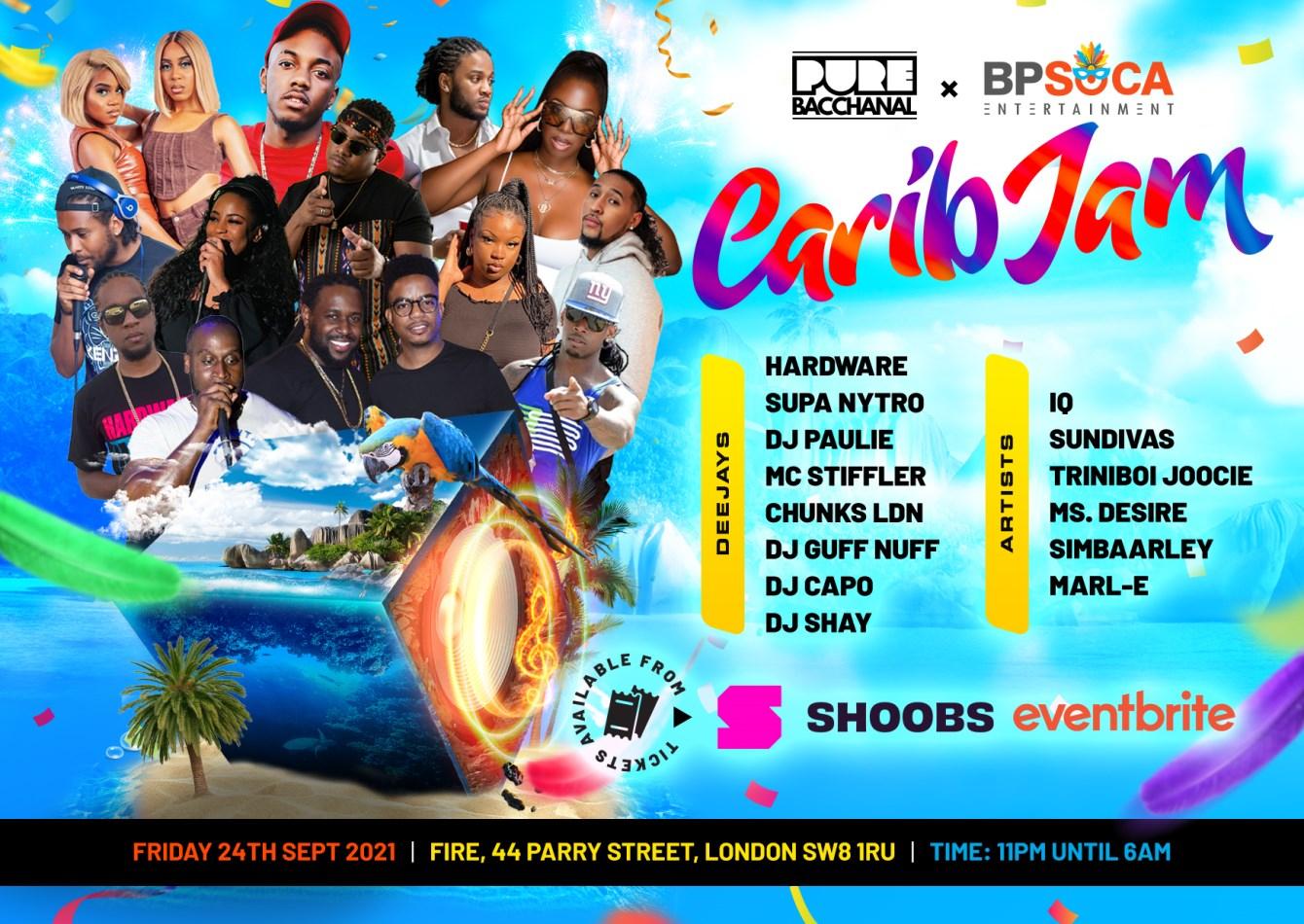 Pure Bacchanal - Carib JAM - Flyer back