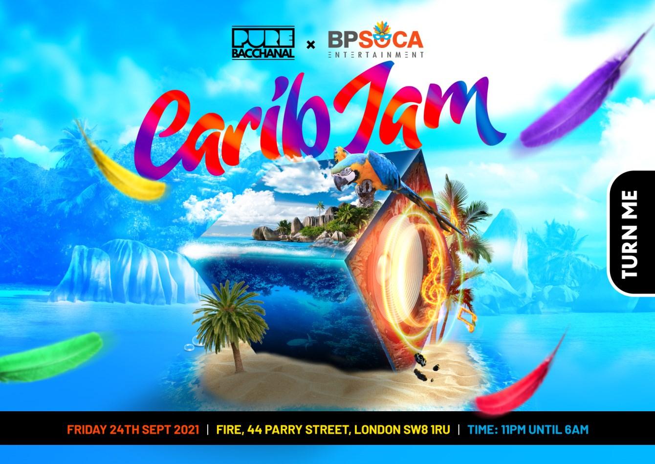 Pure Bacchanal - Carib JAM - Flyer front