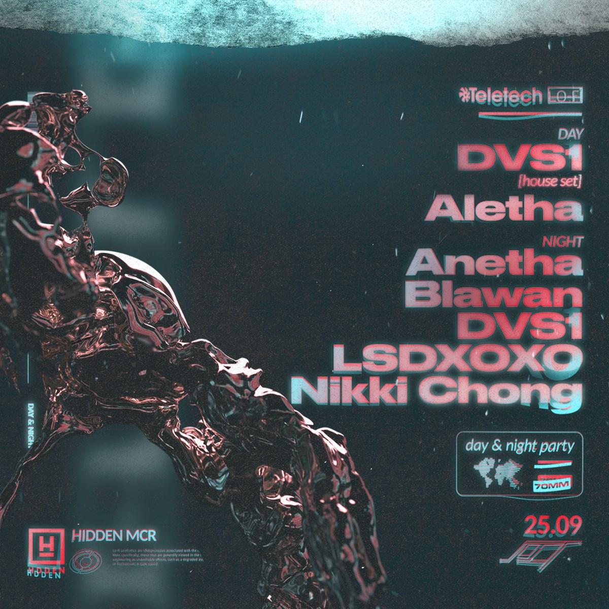 Hidden Autumn Opening: DVS1 [house set], Anetha, Blawan, DVS1, LSDXOXO, Aletha & Nikki Chong - Flyer back