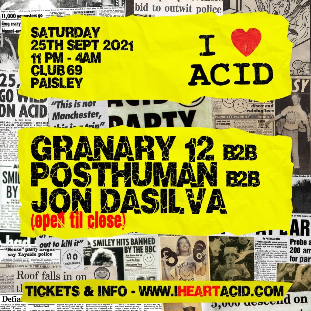 I Love Acid - Flyer back