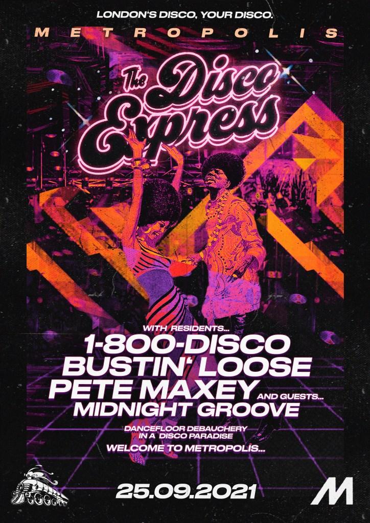 The Disco Express: Basement Jam - Flyer front
