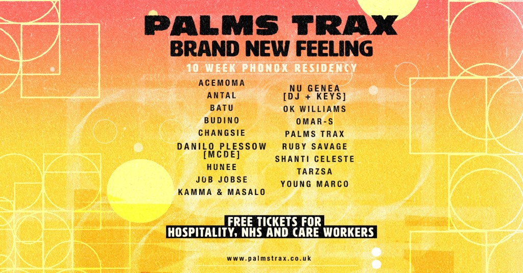 Palms Trax: Brand New Feeling - Flyer front