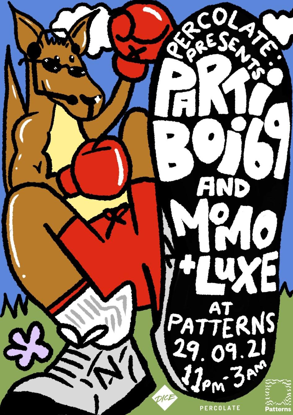 Partiboi69 - Flyer front