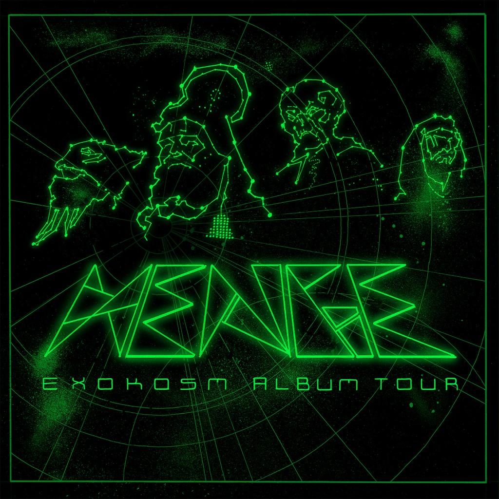 HENGE - Exokosm Tour - Flyer front