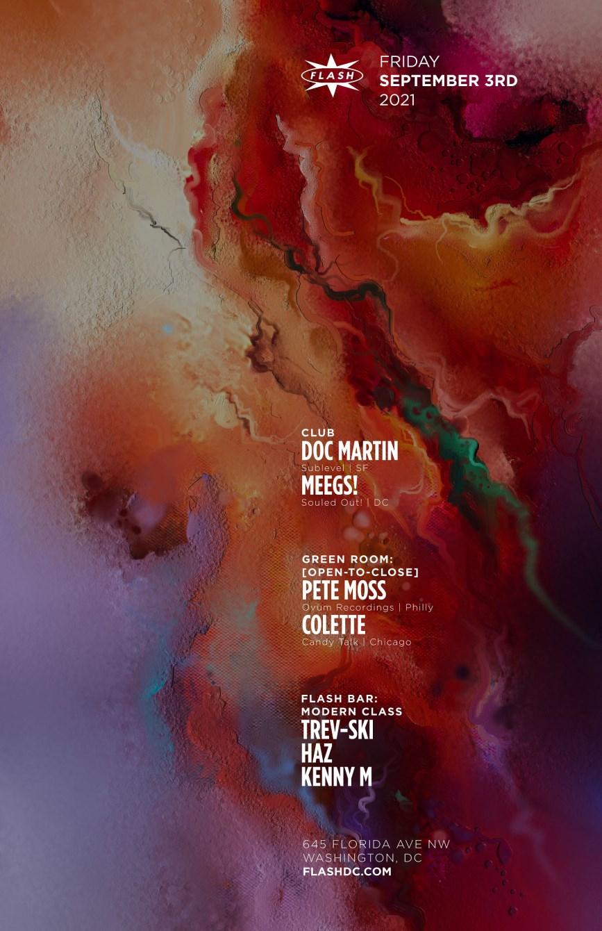 Doc Martin - Pete Moss - Colette - Flyer front