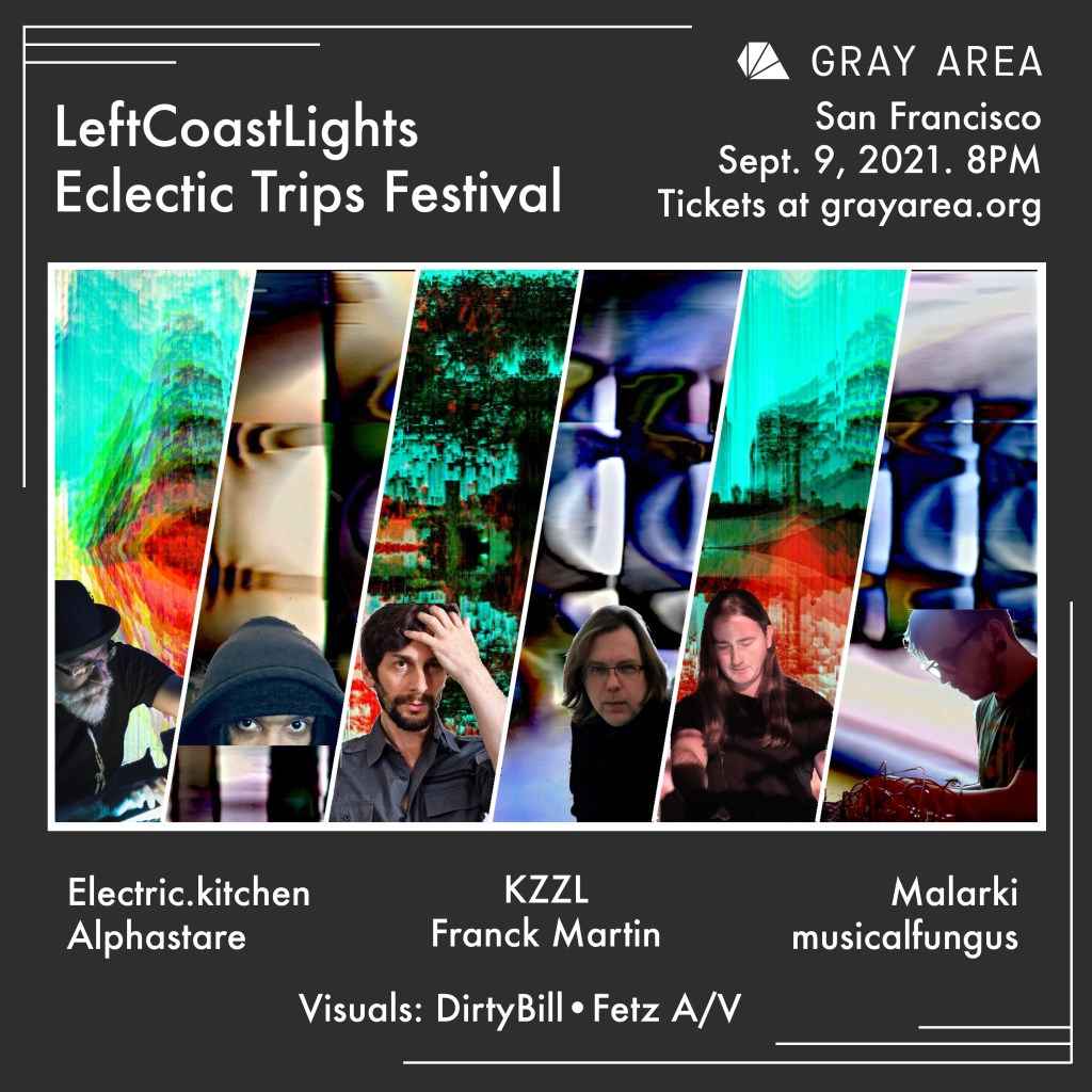 Leftcoastlights Eclectic Trips Festival - Flyer front
