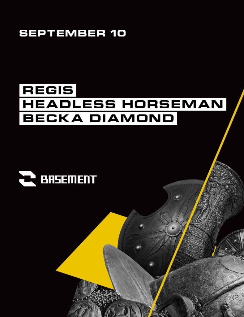 Regis / Headless Horseman / Becka Diamond - Flyer front
