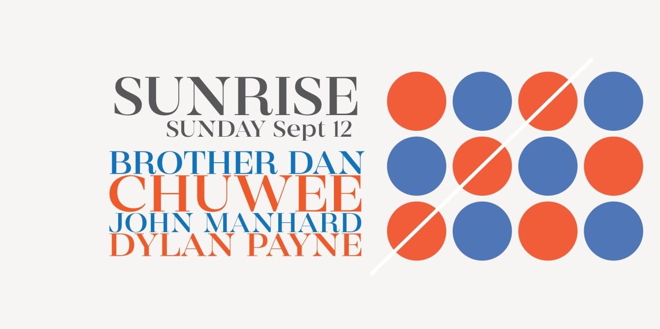 Apollo Studio - Sunday Sunrise with Brother Dan / John Manhard / Dylan Payne / Chuwee - Flyer front
