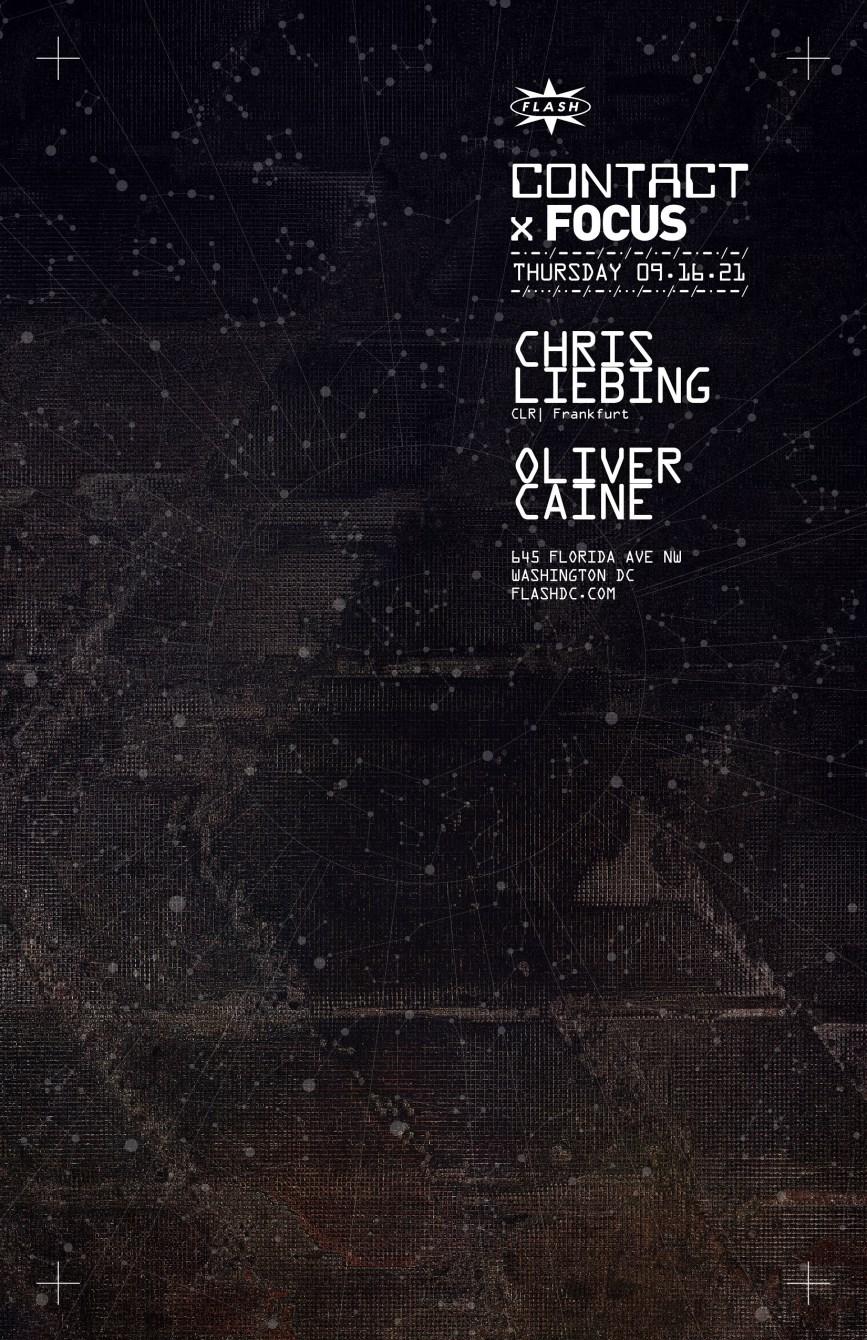 Contact: Chris Liebing - Flyer front