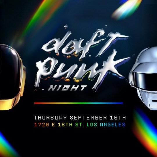 Daft Punk Night - Flyer front