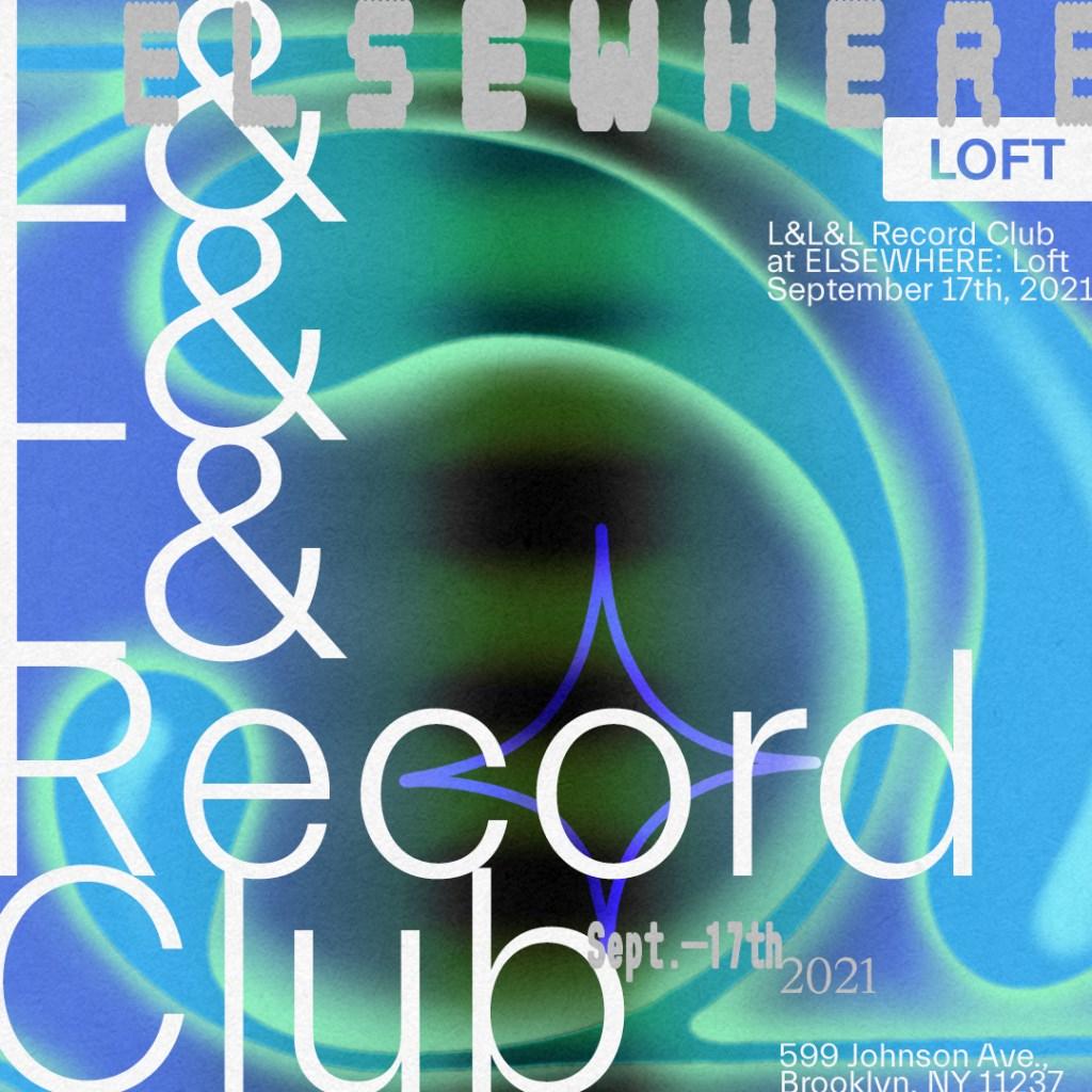 L&l&l Record Club - Flyer back