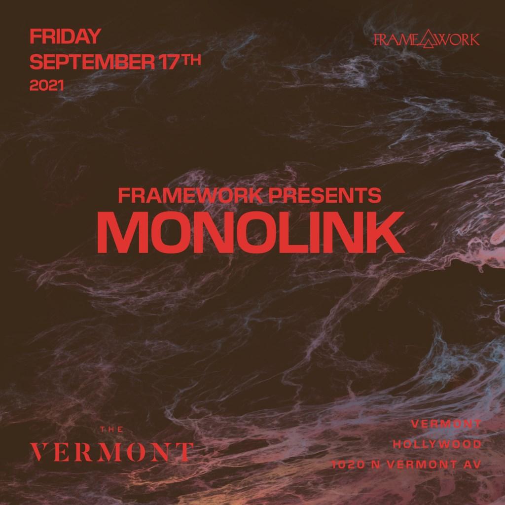 Framework presents Monolink - Flyer front