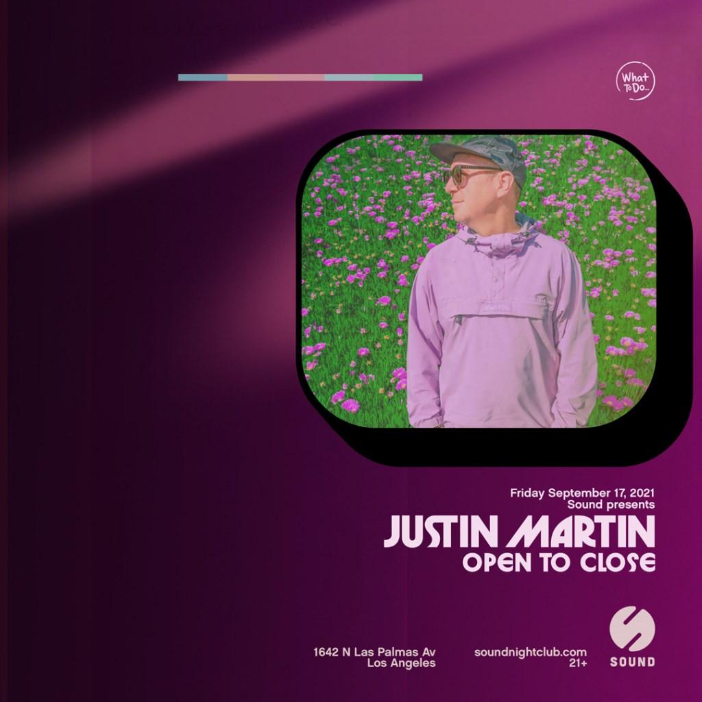 Sound presents Justin Martin - Flyer front