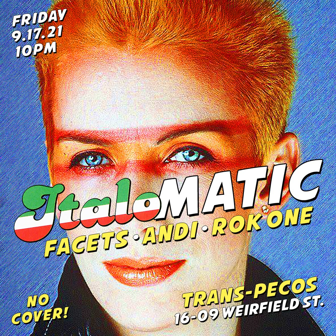 Italomatic (Andi, Facets & Rok One) at Trans-Pecos - Flyer front