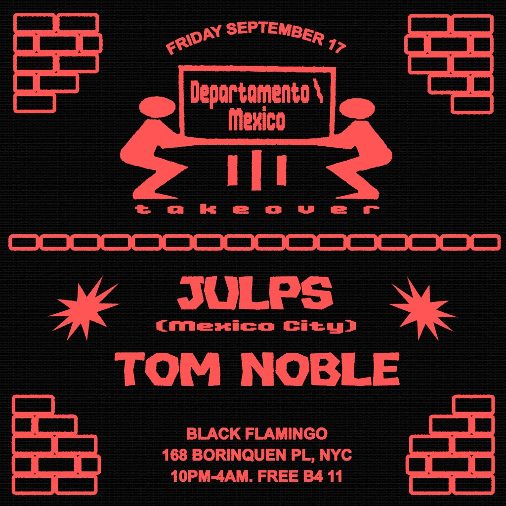 Departamento Mexico City Night 1 with Julps and Tom Noble - Flyer front