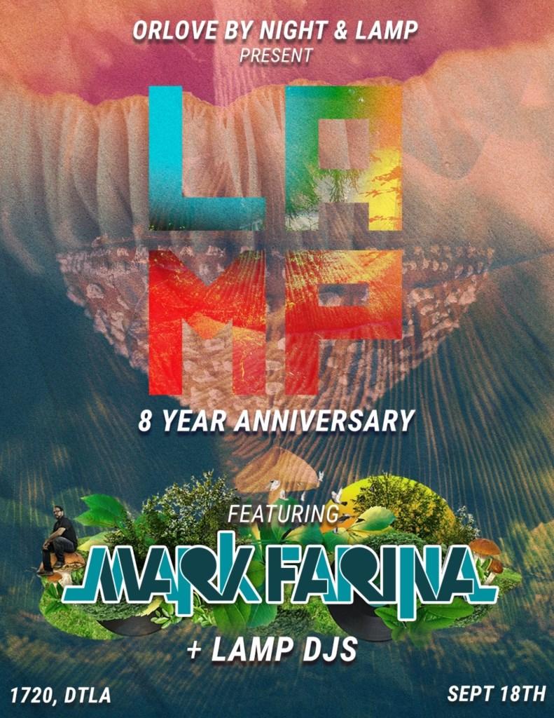Lamp 8-Year Anniversary feat. Mark Farina - Flyer front