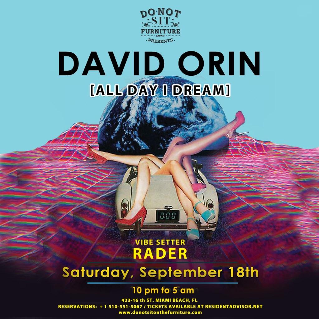 David Orin [All Day I Dream / Anjunadeep] - Flyer front
