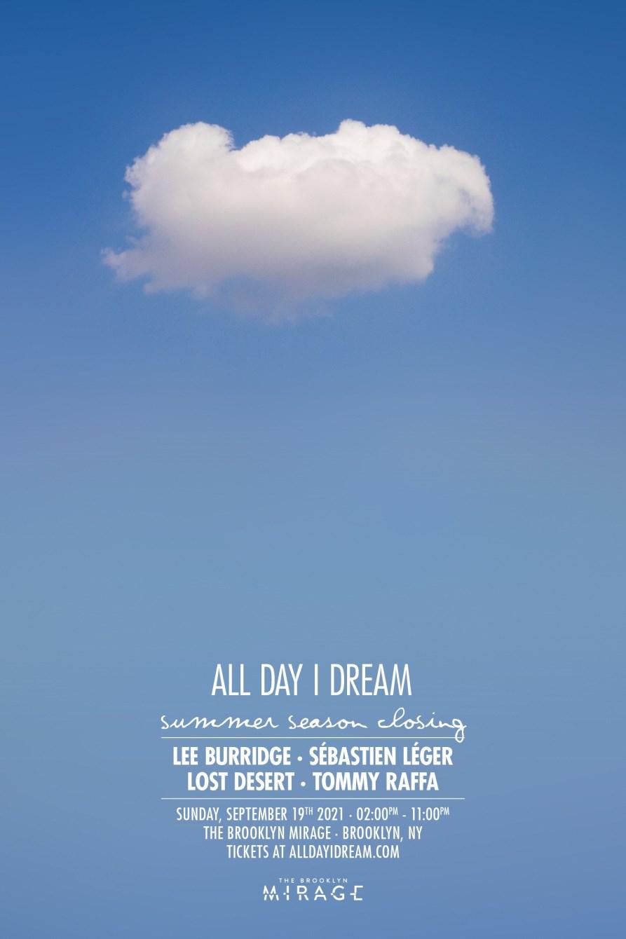 All Day I Dream - Summer Season Closing - Flyer front