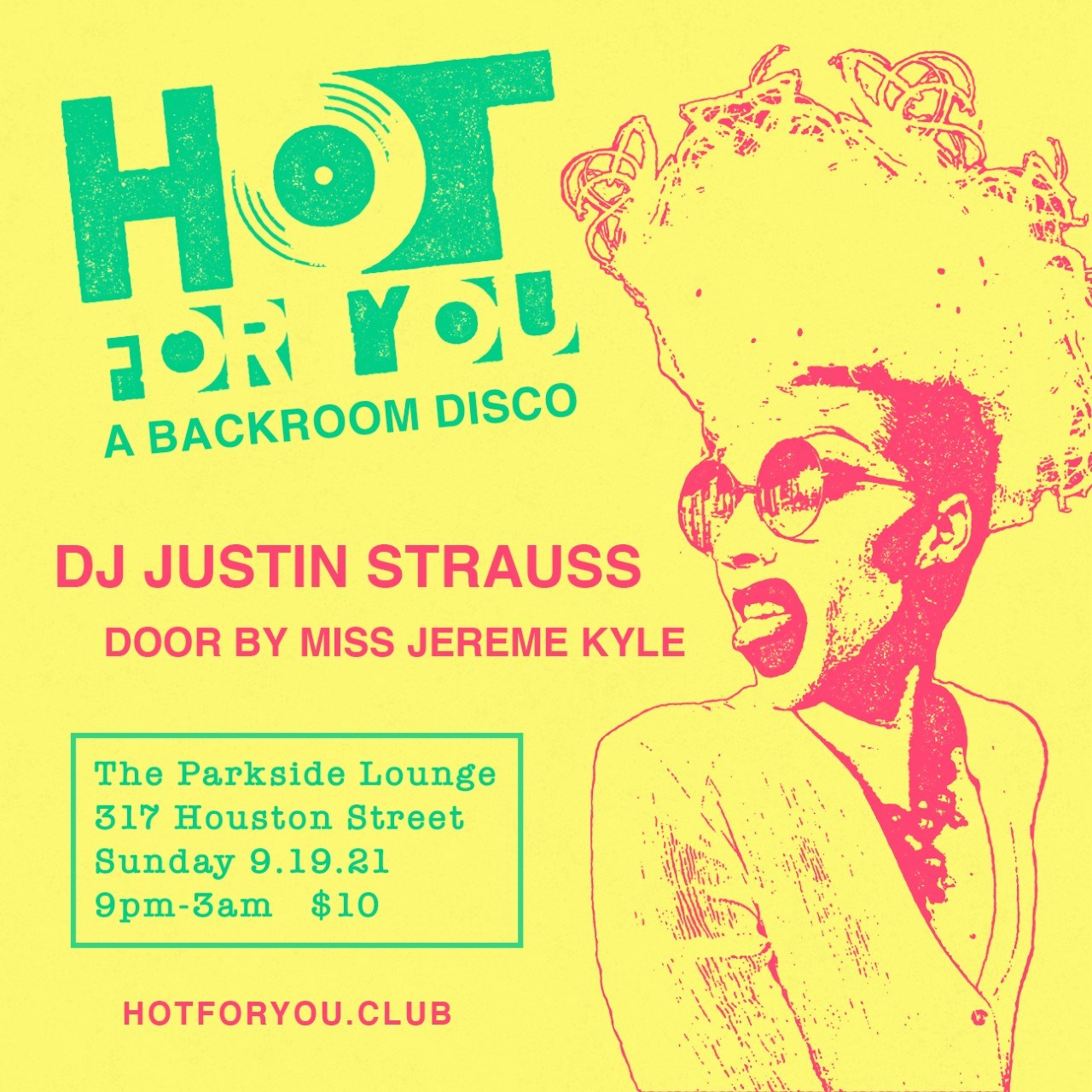 Hot For You - Flyer front