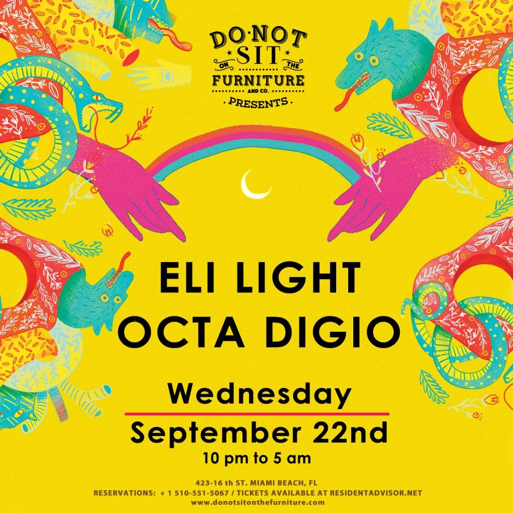 Eli Light [The Gardens of Babylon] & Octa Digio - Flyer front