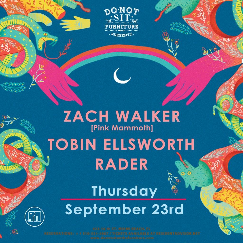 Zach Walker [Pink Mammoth] Tobin Ellsworth and Rader - Flyer front
