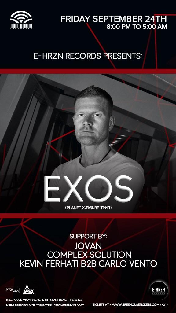 E-Hrzn Records presents Exos - Flyer front