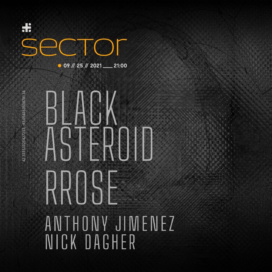 Sector - Rrose & Black Asteroid - Blank Code Detroit Series - Flyer back