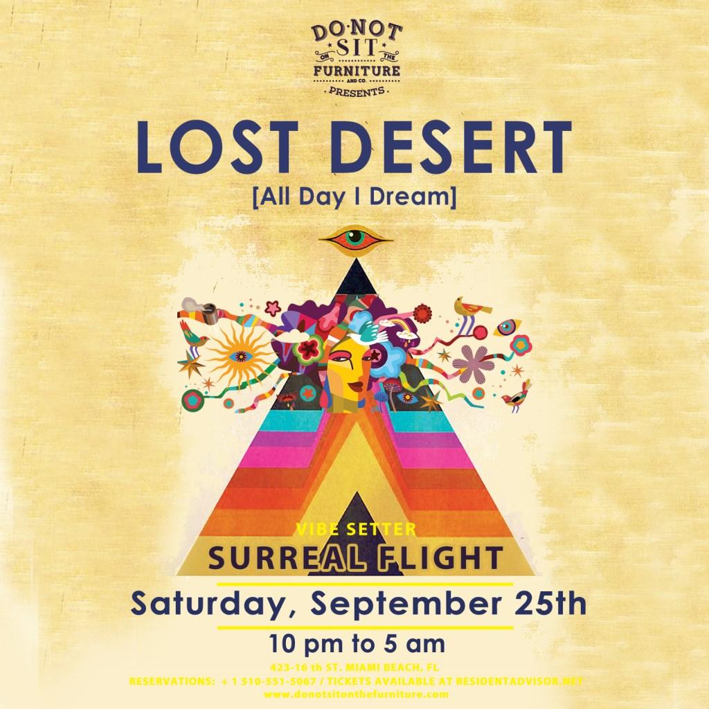 Lost Desert [All Day I Dream] - Flyer front