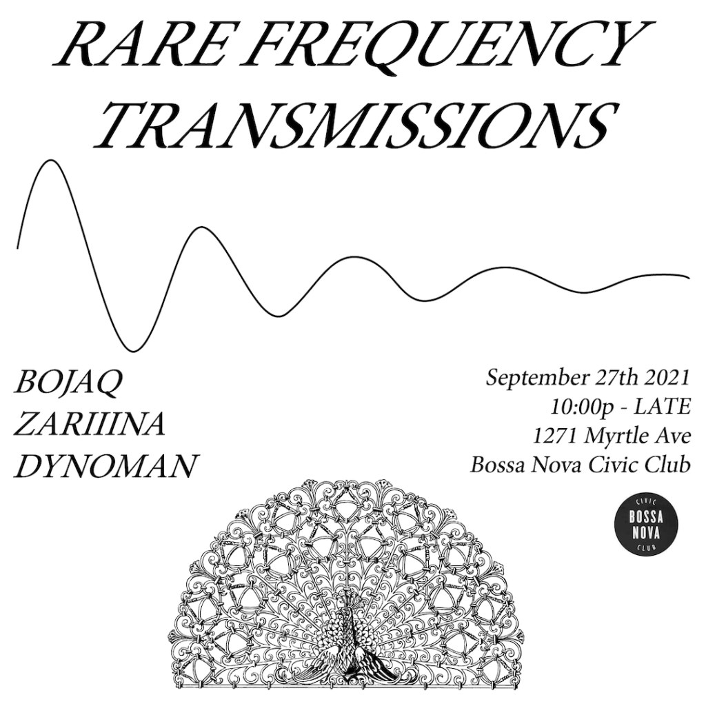 Rare Frequency Transmissions - Flyer front
