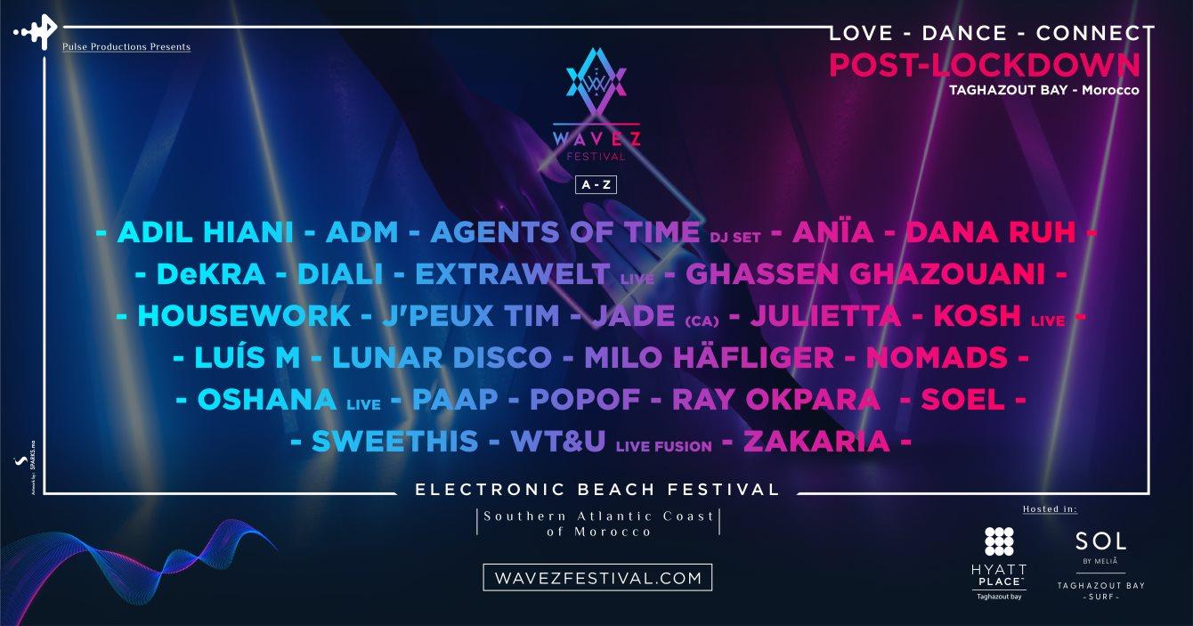 Wavez 2020 [POST-LOCKDOWN] - Electronic Beach Festival - Flyer front