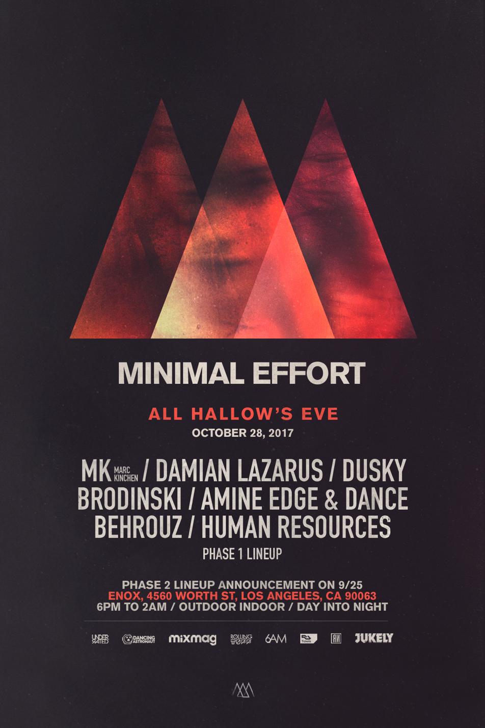 Minimal Effort announces LA Halloween party lineup image