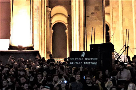 Tbilisi club community stages protest rave at Parliament Of Georgia image